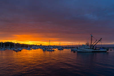 Photograph - Monterey Marina Sunset by Derek Dean