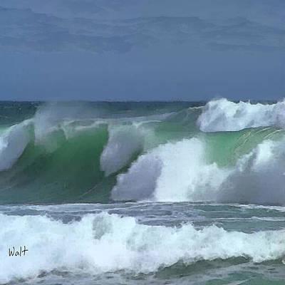 Monterey Surf Art Print