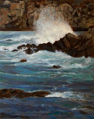 Monterey Wave #1 Art Print