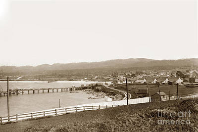 Photograph - Monterey Wharf 1898 by California Views Archives Mr Pat Hathaway Archives