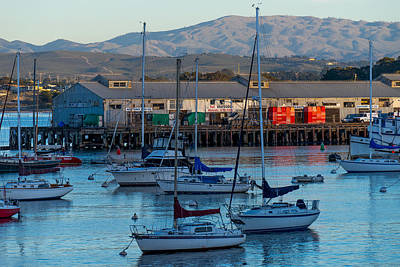 Photograph - Monterey Wharf At Sunset by Derek Dean