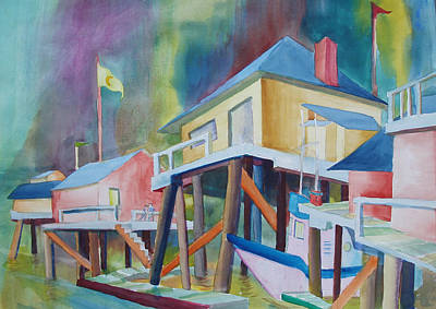 Monterey Wharf Painting - Monterey Wharf by Howard Luke Lucas