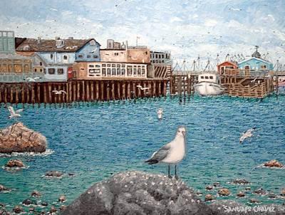 Monterey Wharf Painting - Monterey Wharf by Santiago Chavez