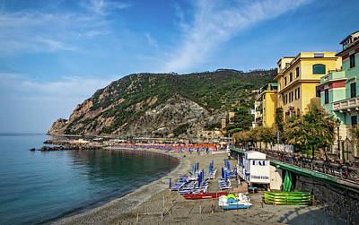 Photograph - Monterosso Beachfront by Carolyn Derstine