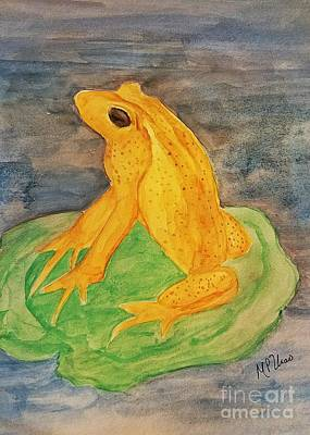 Painting - Monteverde Golden Frog by Maria Urso