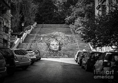 Photograph - Monteverde Vecchio Street Art, Rome Italy by Perry Rodriguez