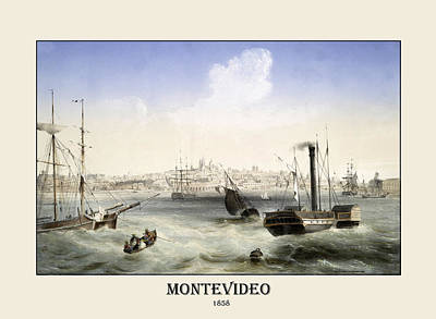Photograph - Montevideo 1858 by Andrew Fare
