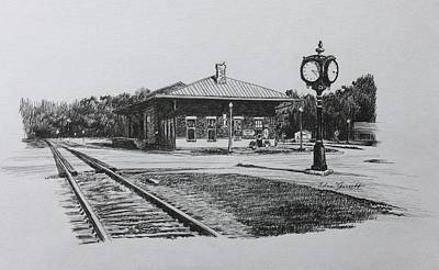 Drawing - Montezuma Depot by Edna Garrett