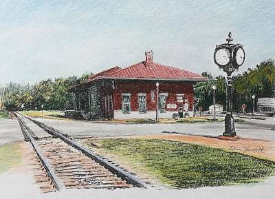 Drawing - Montezuma Train Depot by Edna Garrett