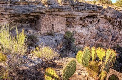 Southwest Photograph - Montezuma Well National Monument Dwelling by LeeAnn McLaneGoetz McLaneGoetzStudioLLCcom