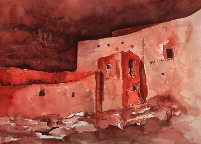 Montezuma's Castle Art Print by Sharon Mick