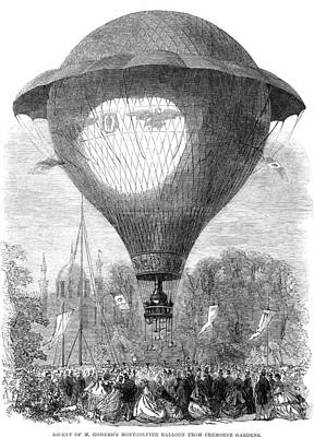Montgolfier Balloon, 1864 Art Print by Granger