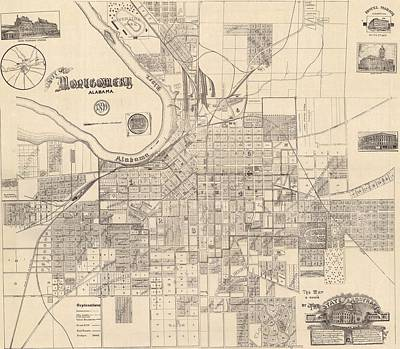 1890s Drawing - Montgomery Alabama 1899 by Mountain Dreams