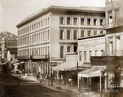 Photograph - Montgomery Block Montgomery Street Circa 1855 by California Views Mr Pat Hathaway Archives
