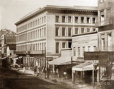 Photograph - Montgomery Block San Francisco  Was Erected In 1853 by California Views Mr Pat Hathaway Archives