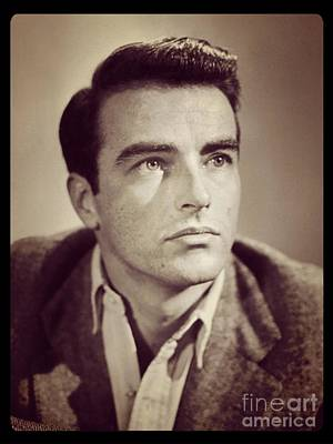 Musicians Royalty Free Images - Montgomery Clift Vintage Hollywood Actor Royalty-Free Image by Esoterica Art Agency