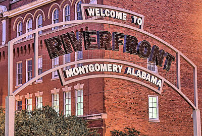Photograph - Montgomery Riverfront by JC Findley