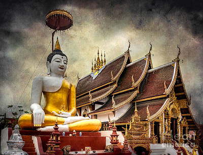 Photograph - Monthian Temple Buddha by Adrian Evans