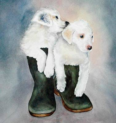 Painting - Monti And Gemma by Diane Fujimoto