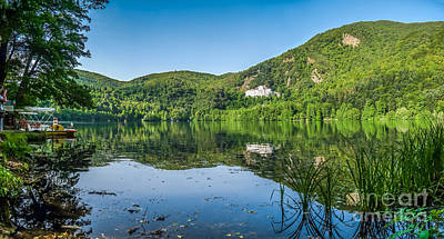 Basilicata Photograph - Monticchio Lake With Famous Abbey And Monte Vulture, Basilicata, by JR Photography
