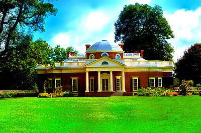 Thomas Jefferson Digital Art - Monticello by Bill Cannon