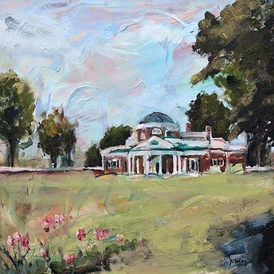 Painting - Monticello Charlottesville Virginia by Donna Tuten