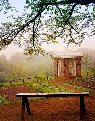 Politicians Royalty-Free and Rights-Managed Images - Monticello Garden Pavilion by Heidi Hermes