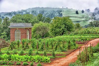 Photograph - Monticello Gardens by Mike Martin