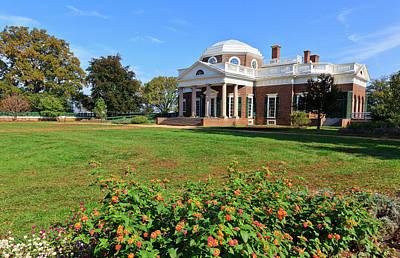 Monticello Photograph - Monticello Thomas Jefferson's Home by Jill Lang