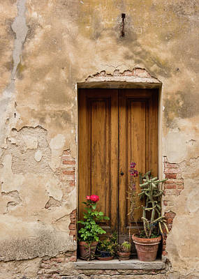 Photograph - Montisi Doorway - Vertical by Michael Blanchette