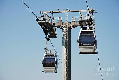 Photograph - Montjuic Cable Cars In Barcelona by David Fowler