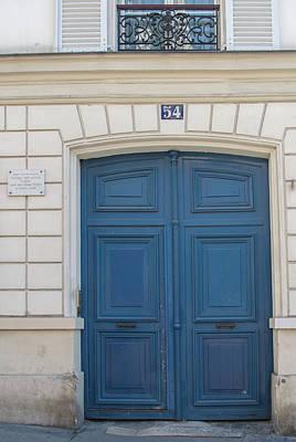 Digital Art - Montmarte Paris Blue Door  by Carol Ailles