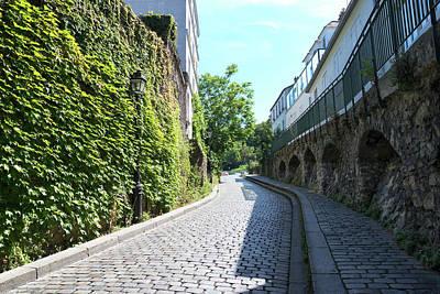 Digital Art - Montmarte Paris Cobblestone Streets by Carol Ailles