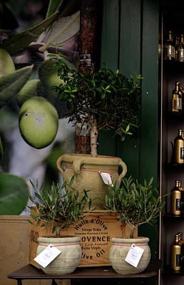 Digital Art - Montmarte Paris Olive Oil by Carol Ailles