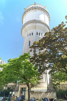 Digital Art - Montmarte Paris Water Tower Square Claude Charpentier by Carol Ailles
