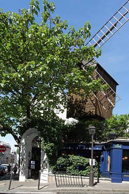 Digital Art - Montmarte Paris Windmill by Carol Ailles