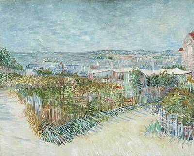 Painting - Montmartre   Behind The Moulin De La Galette by Artistic Panda