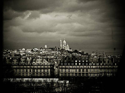 Sacre Coeur Photograph - Montmartre Black And White by Mark Currier