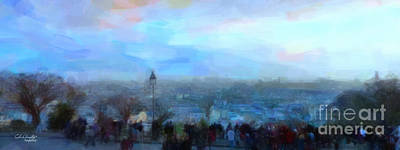 Montmartre From The Butte Art Print by Chris Armytage