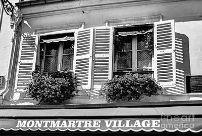 Photograph - Montmartre In Paris Bw by Mel Steinhauer
