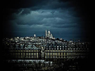 Sacre Coeur Photograph - Montmartre by Mark Currier