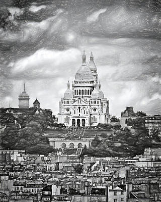 Photograph - Montmartre - Sacre-coeur - Paris by Nikolyn McDonald