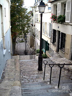 Photograph - Montmartre Staircase by Suzanne Krueger