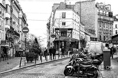 Photograph - Montmartre Street Scene Paris by John Rizzuto