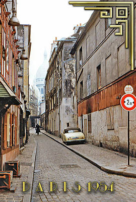 Photograph - Montmartre - Titled by Chuck Staley