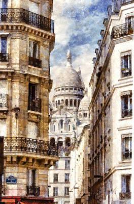 Sacre Coeur Digital Art - Montmartre by Valery Egorov