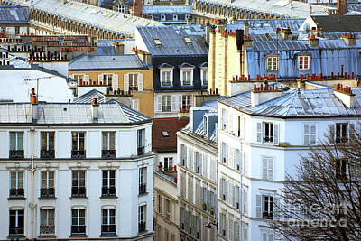 Montmartre View In Paris Art Print