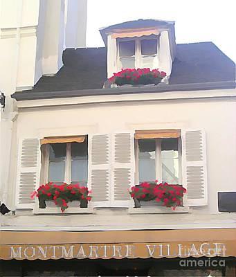 Sacre Coeur Mixed Media - Montmartre Village by Jennifer Smith