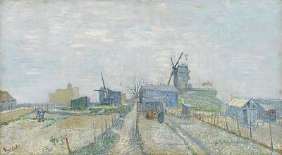 Painting - Montmartre, Windmills And Allotments Paris, March   April 1887 Vincent Van Gogh 1853  1890 by Artistic Panda
