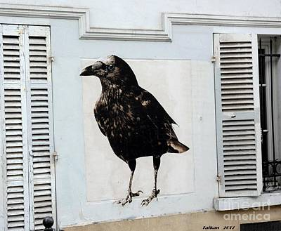 Taikan Photograph - Montmartre's Raven By Taikan by Taikan Nishimoto